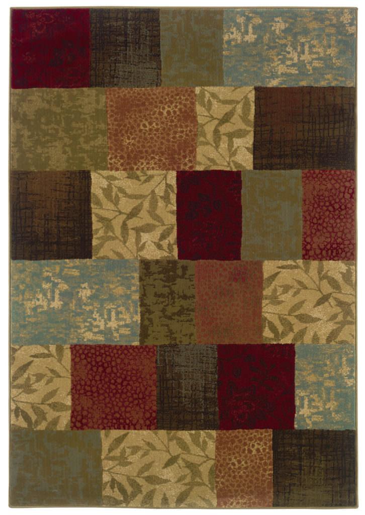Oriental Weavers Hudson HUD 030C1 Green / Red Rug