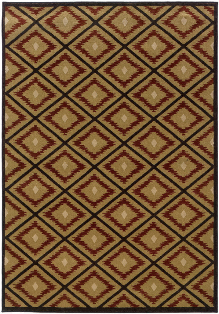 Oriental Weavers Hudson HUD 3302B Gold / Red Rug