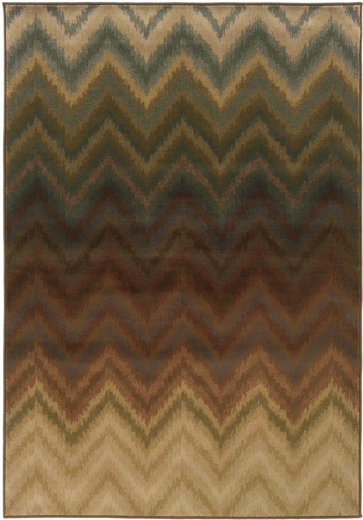 Oriental Weavers Hudson HUD 3458A Brown / Multi Rug