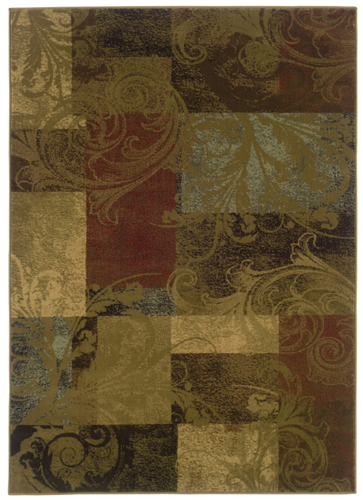 Oriental Weavers Hudson HUD 036G1 Green / Red Rug