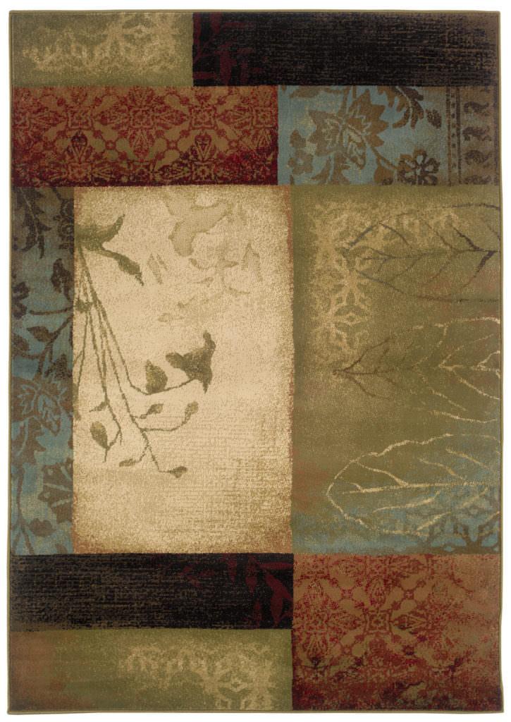 Oriental Weavers Hudson HUD 040A1 Beige / Green Rug