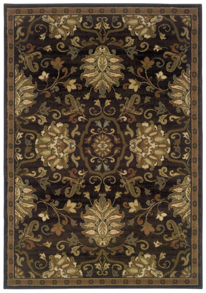 Oriental Weavers Hudson HUD 042G1 Brown / Beige Rug