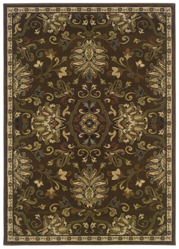 Oriental Weavers Hudson HUD 042H1 Green / Beige Rug