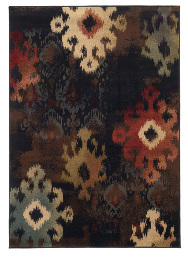Oriental Weavers Hudson HUD 4874B Black / Brown Rug