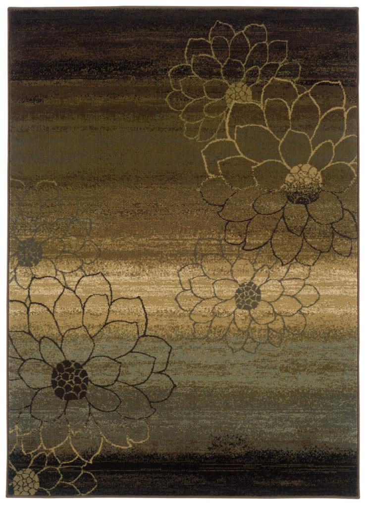 Oriental Weavers Hudson HUD 074A1 Brown / Beige Rug