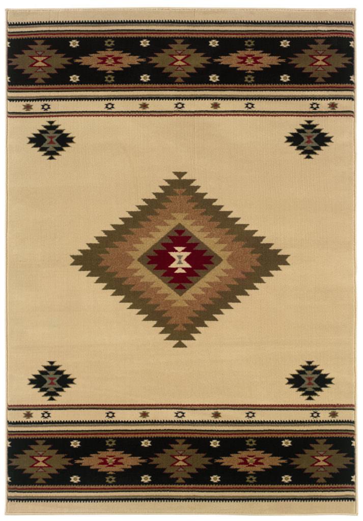 Oriental Weavers Hudson HUD 087I1 Beige / Green Rug