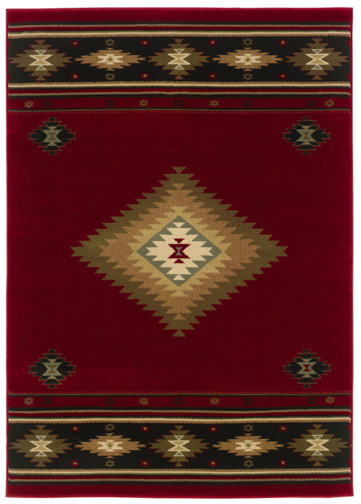 Oriental Weavers Hudson HUD 087K1 Red / Green Rug
