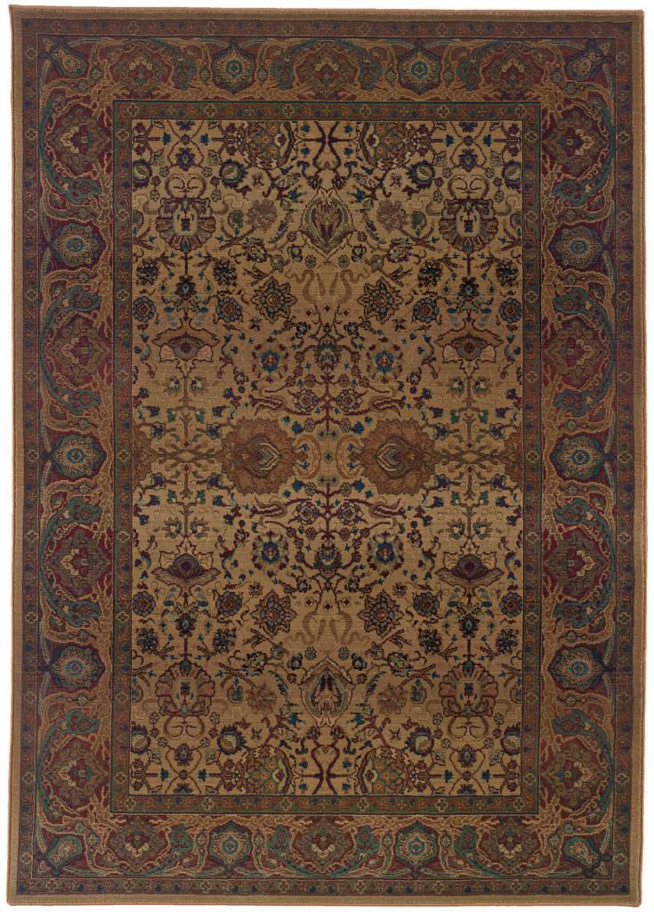 Oriental Weavers Kharma KHA 332W4 Beige / Red Rug