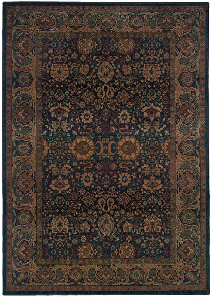 Oriental Weavers Kharma KHA 332X4 Blue / Beige Rug