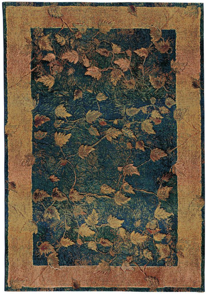 Oriental Weavers Kharma KHA 349B4 Blue / Gold Rug