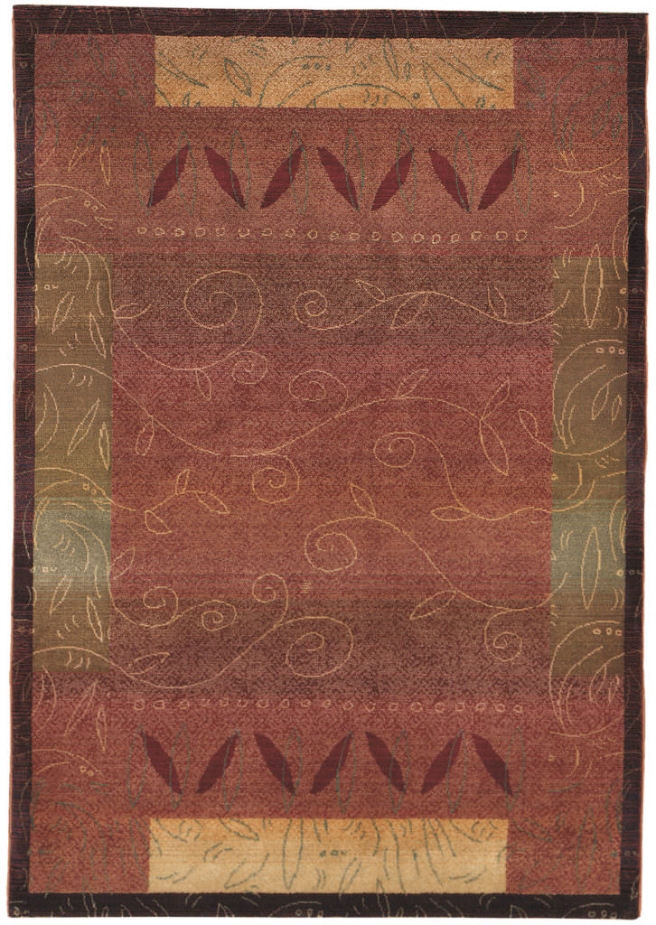 Oriental Weavers Kharma KHA 439R4 Red / Gold Rug