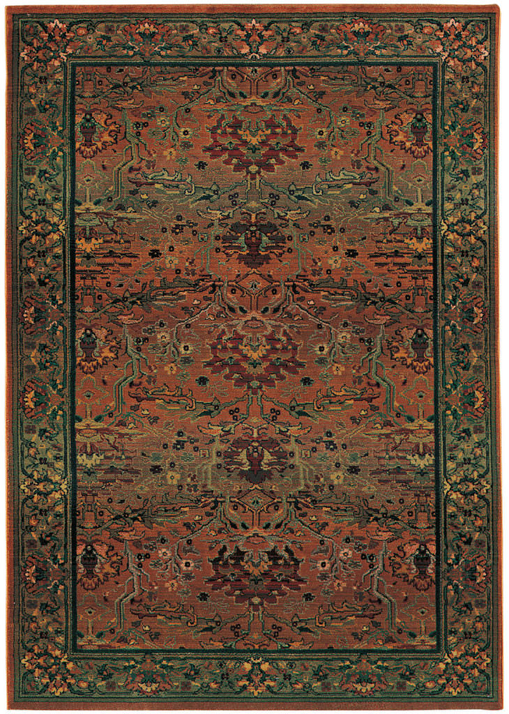 Oriental Weavers Kharma KHA 465J4 Green / Beige Rug
