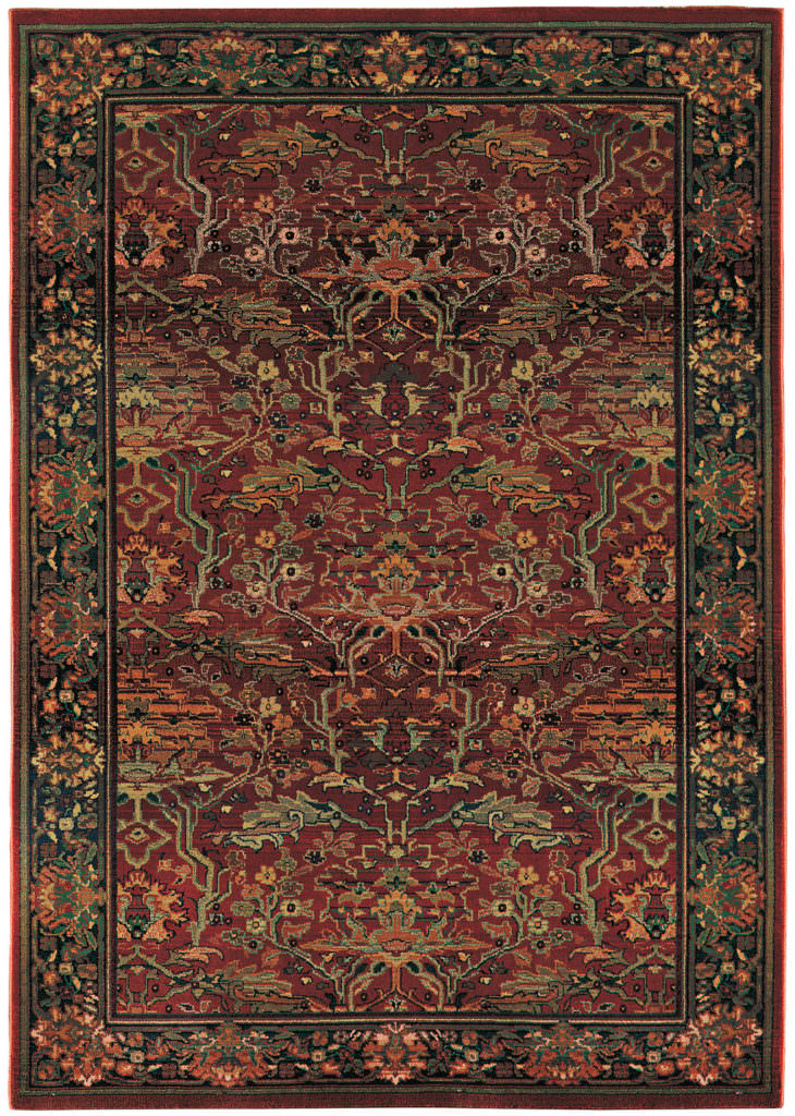 Oriental Weavers Kharma KHA 465R4 Red / Green Rug