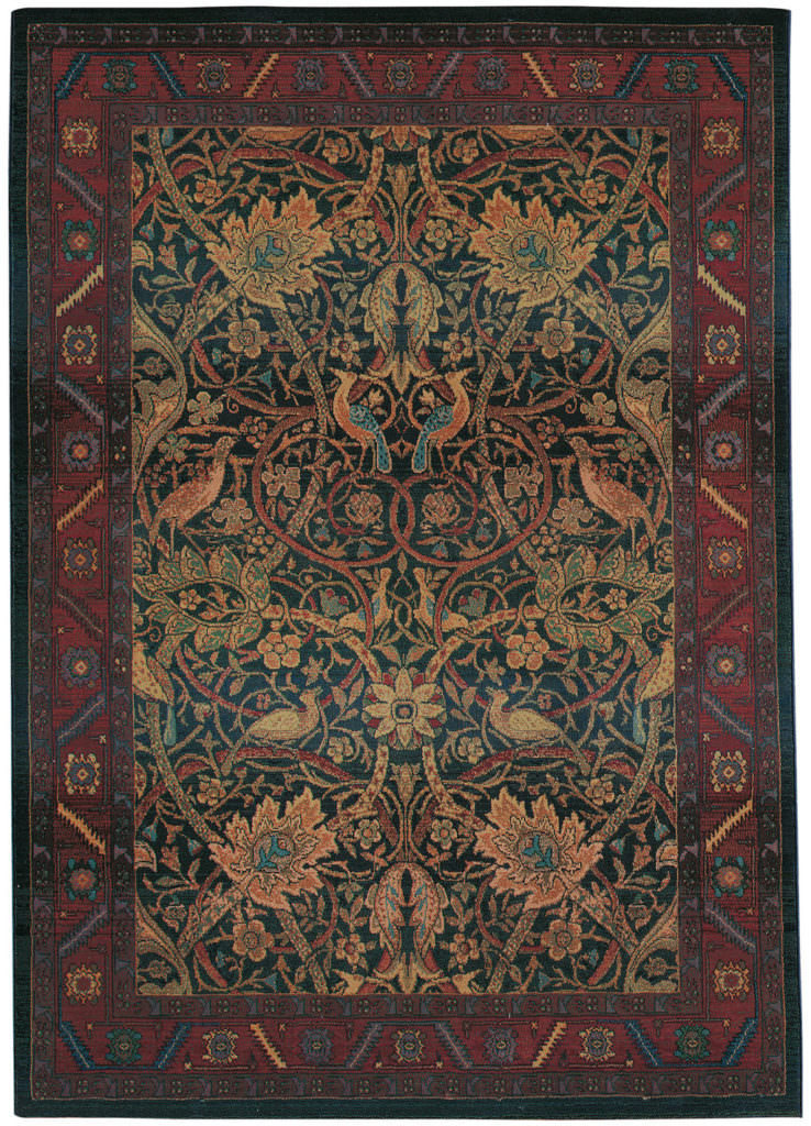 Oriental Weavers Kharma KHA 470X4 Red / Blue Rug