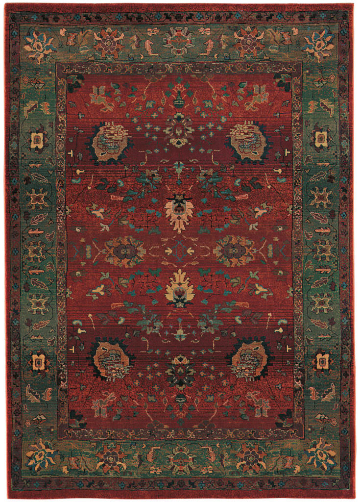 Oriental Weavers Kharma KHA 807C4 Red / Green Rug