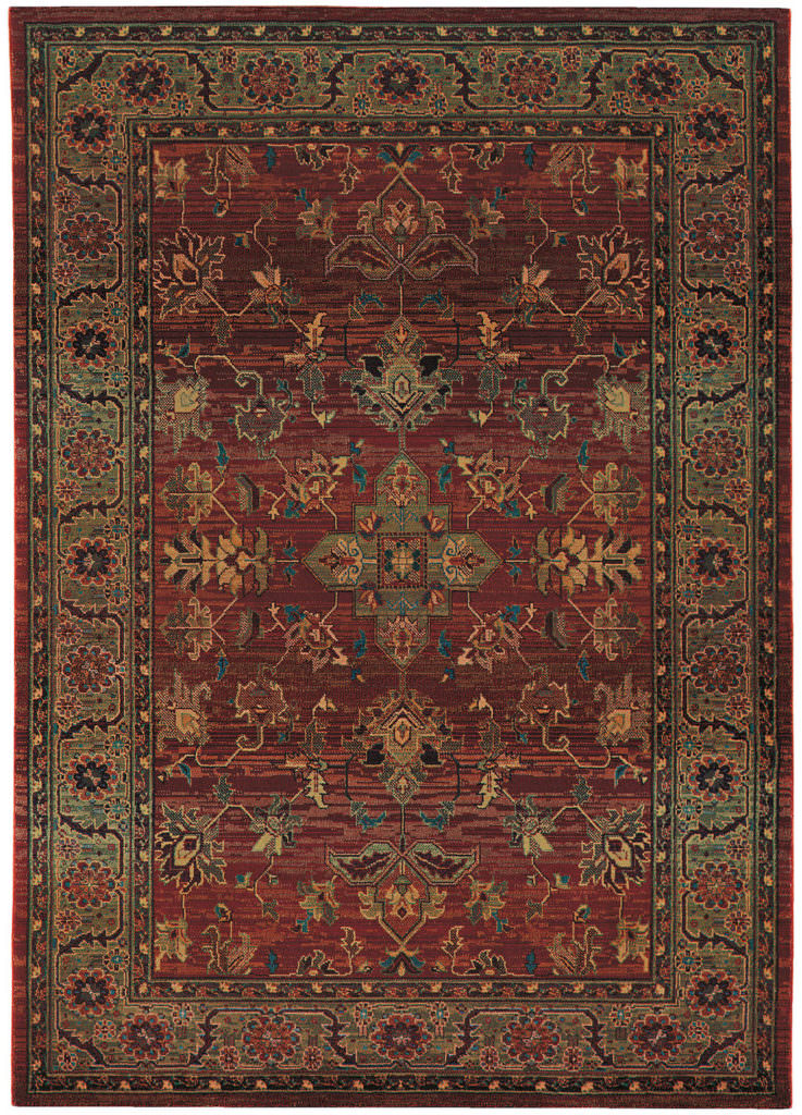 Oriental Weavers Kharma KHA 836C4 Red / Green Rug