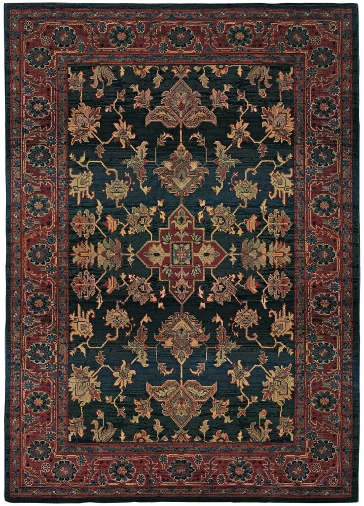 Oriental Weavers Kharma KHA 836F4 Blue / Red Rug