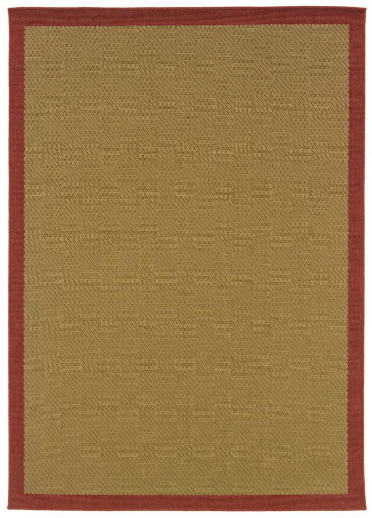 Oriental Weavers Lanai LAN 525O8 Beige / Red Rug