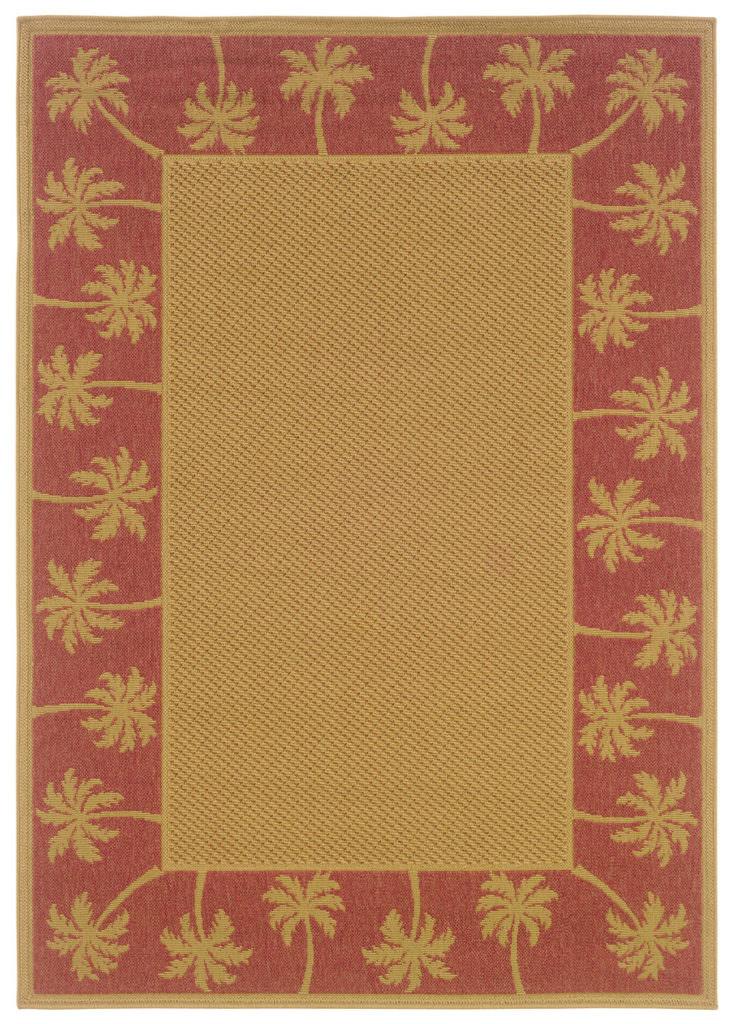 Oriental Weavers Lanai LAN 606C8 Beige / Red Rug