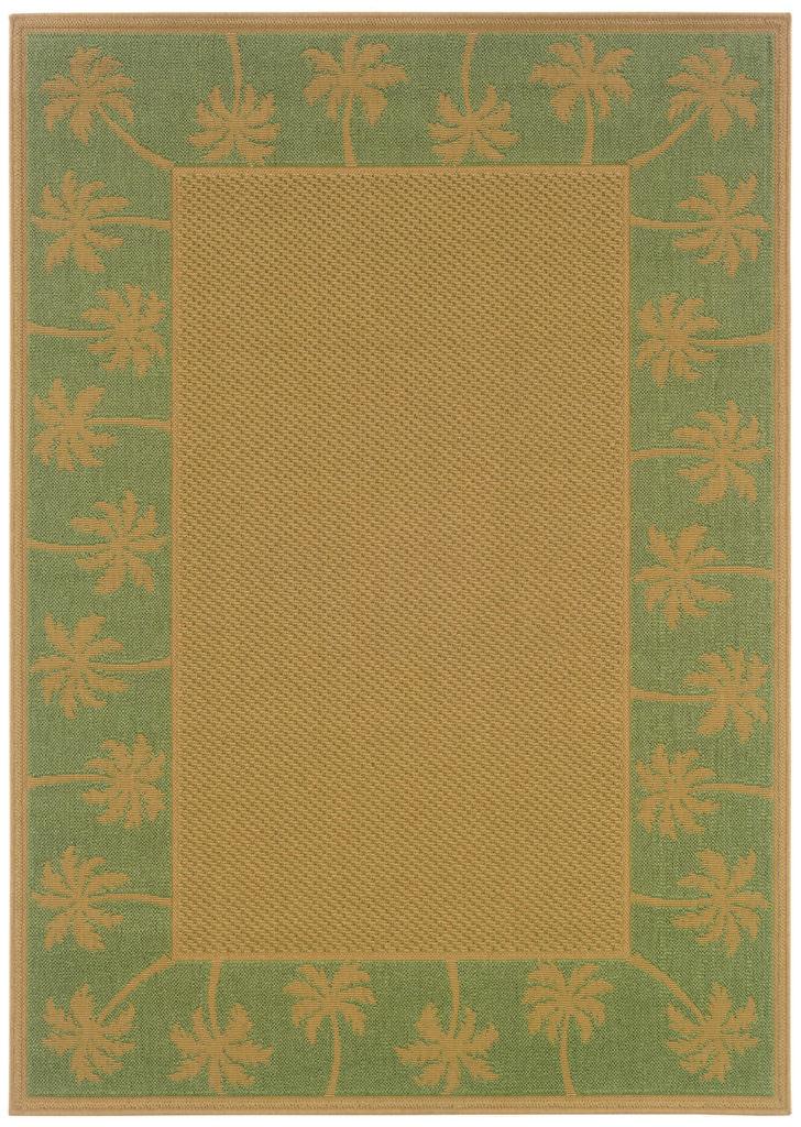Oriental Weavers Lanai LAN 606F6 Beige / Green Rug