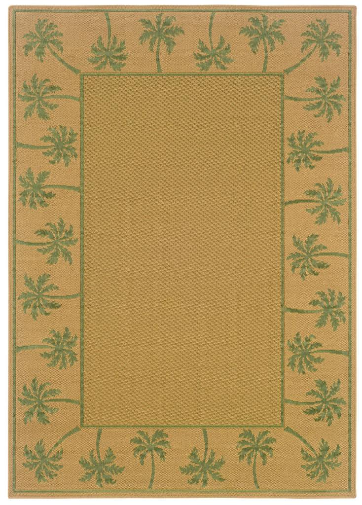 Oriental Weavers Lanai LAN 606G6 Beige / Green Rug