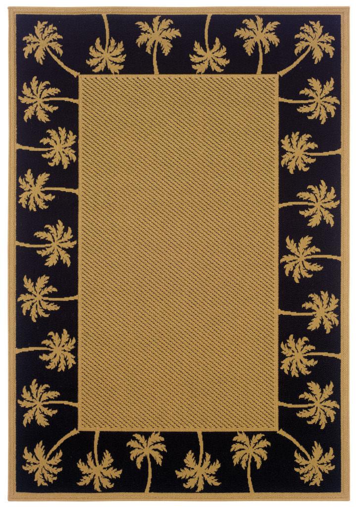 Oriental Weavers Lanai LAN 606K5 Beige / Black Rug