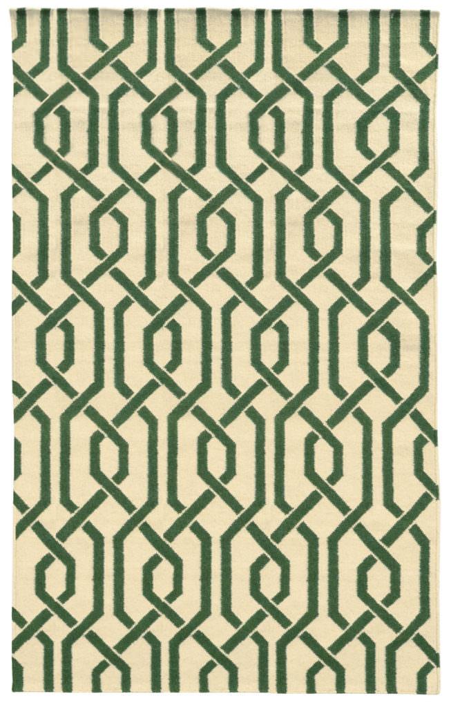 MAT 4260J Ivory / Green Rug