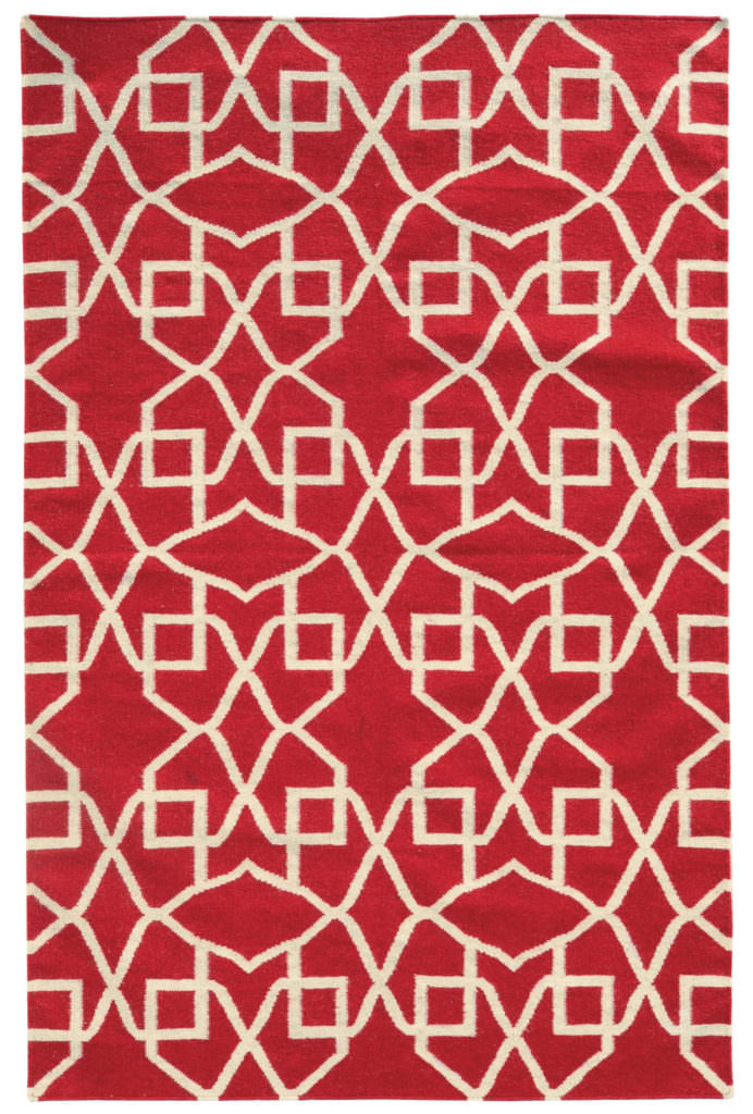 MAT 4267M Red / Ivory Rug