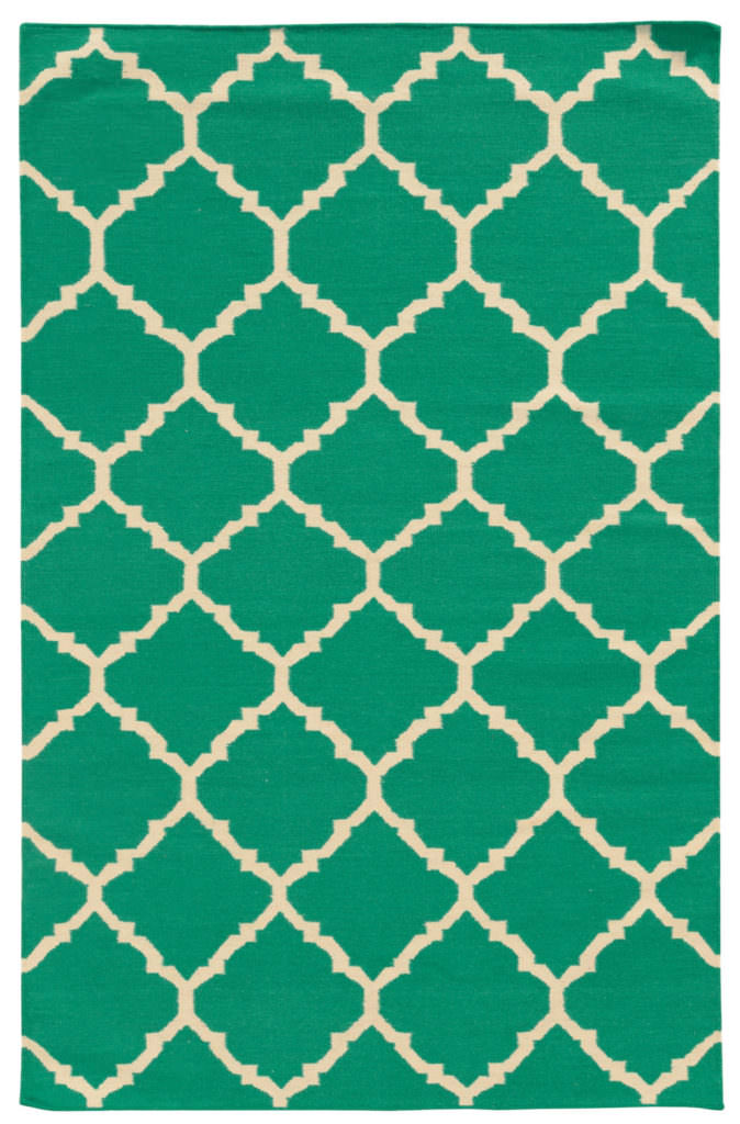 MAT 4280J Green / Ivory Rug