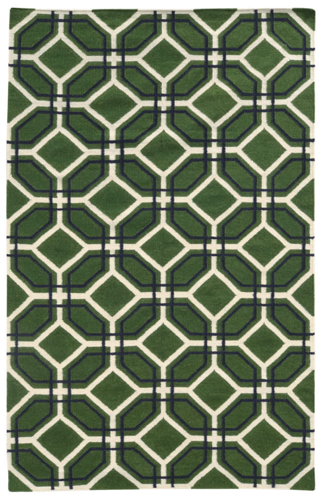 MAT 4722B Green / Charcoal Rug