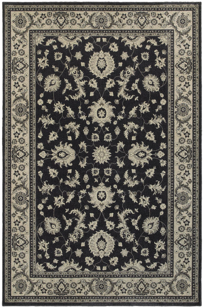 Oriental Weavers Richmond RIC 117H3 Charcoal / Ivory Rug