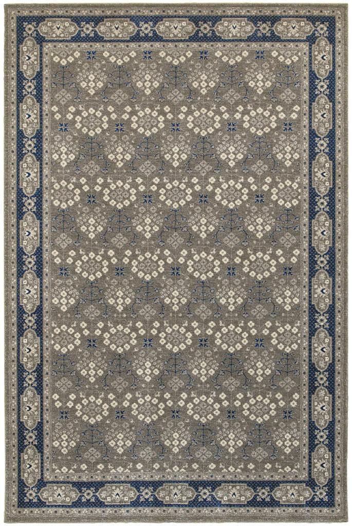 Oriental Weavers Richmond RIC 119U3 Grey / Navy Rug
