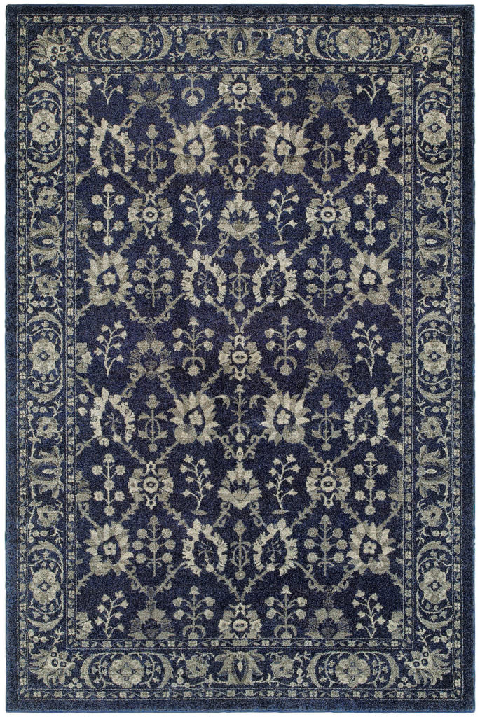 Oriental Weavers Richmond RIC 8020K Navy / Grey Rug