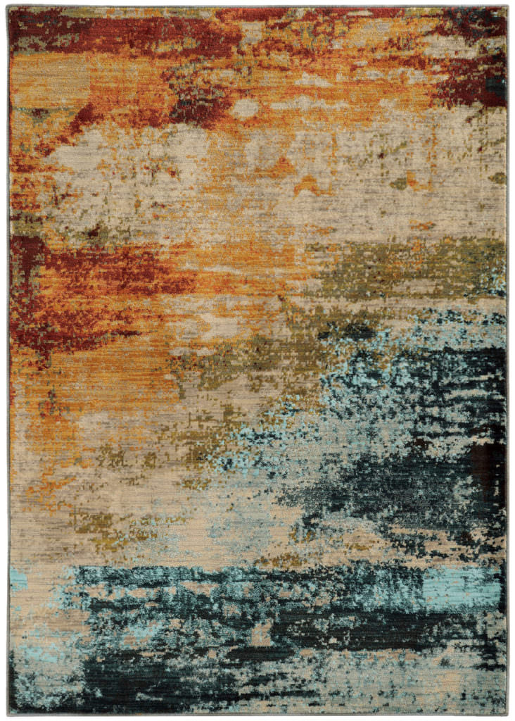 Oriental Weavers Sedona SDN 6365A Blue / Red Rug