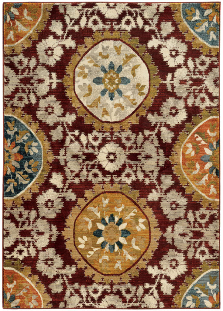 Oriental Weavers Sedona SDN 6366A Red / Gold Rug