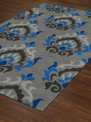 Dalyn Aloft AL5 Silver Rug Floor View
