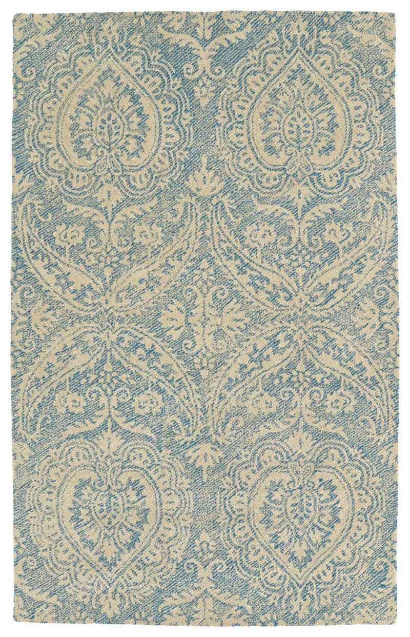 Kaleen Weathered WTR01-17 Blue Rug