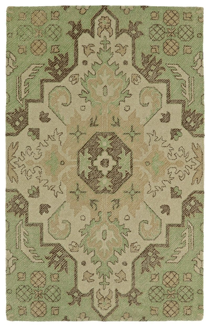 Kaleen Weathered WTR02-50 Green Rug