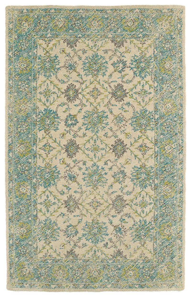 Kaleen Weathered WTR06-91 Teal Rug