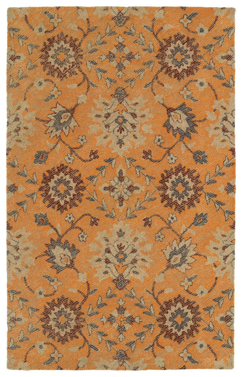 Kaleen Weathered WTR07-89 Orange Rug